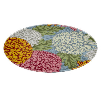 Excellent pattern with chrysanthemums cutting board