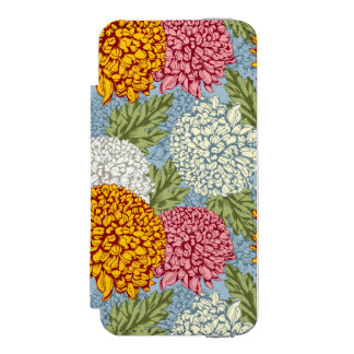 Excellent pattern with chrysanthemums incipio watson™ iPhone 5 wallet case