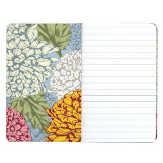 Excellent pattern with chrysanthemums journal