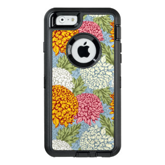 Excellent pattern with chrysanthemums OtterBox defender iPhone case