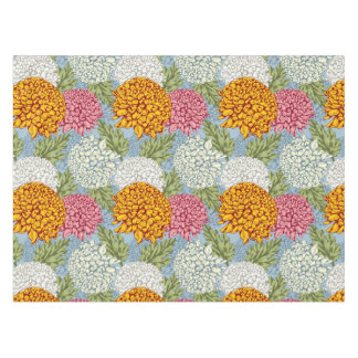 Excellent pattern with chrysanthemums tablecloth