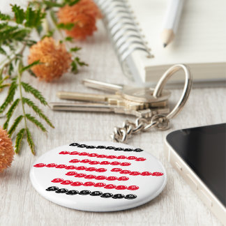 Excellent quality basic button keychain