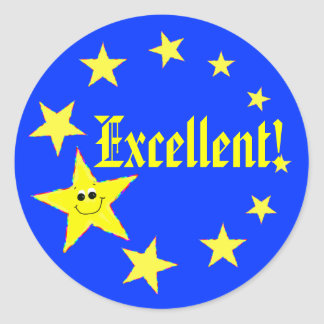 Excellent Stars School Stickers