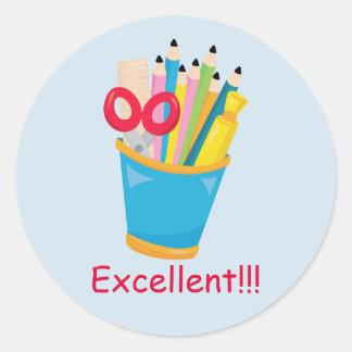 Excellent Teacher Rewards Classic Round Sticker