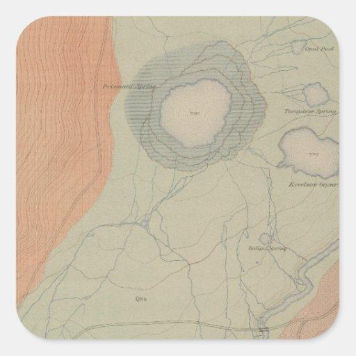 Excelsior Geyser Basin Square Sticker