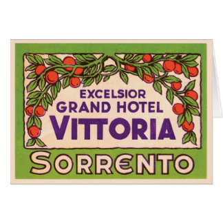 Excelsior Grand Hotel Vittoria Sorrento Greeting Card