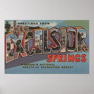 Excelsior Springs, Missouri - Large Letter Poster