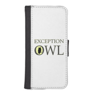 Exceptional Exception Owl iPhone SE/5/5s Wallet Case
