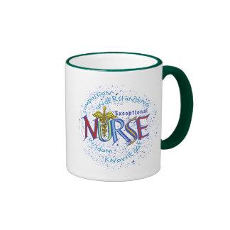 Exceptional Nurse Motto Coffee Mug