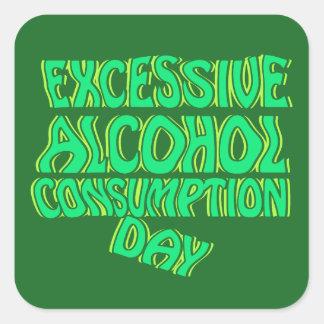 Excessive Alcohol Consumption Day Square Sticker