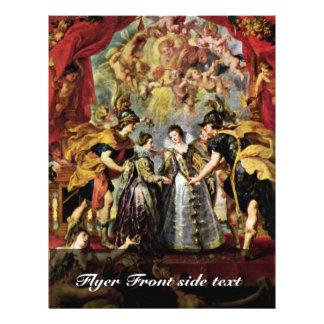 Exchange Of Princesses By Rubens Peter Paul 21.5 Cm X 28 Cm Flyer