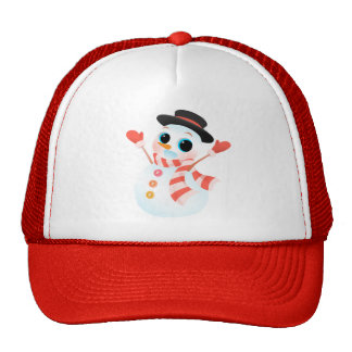 Excited Cute Snowman Hats