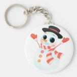Excited Cute Snowman Key Chain