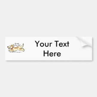 Excited for food pet dog illustration bumper sticker