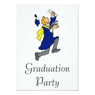 Excited Graduate 13 Cm X 18 Cm Invitation Card