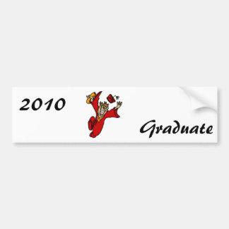 excited graduate in red car bumper sticker