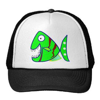 Excited Green Piranha Hat