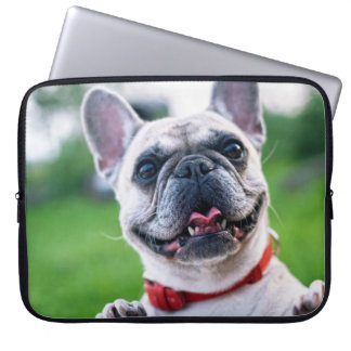 Excited Pug Love Laptop Sleeve