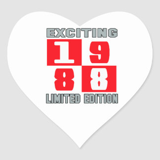 Exciting 1988 limited edition heart sticker