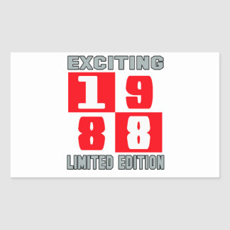 Exciting 1988 limited edition rectangular sticker