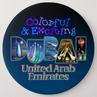 Exciting and Colorful Dubai 6 Cm Round Badge