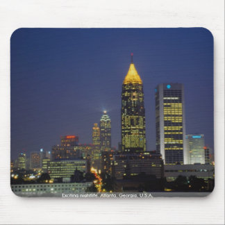Exciting nightlife, Atlanta, Georgia, U.S.A. Mouse Mat