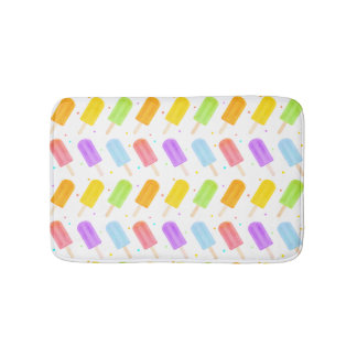 Exciting Tasty Summer Watercolour Popsicle Pattern Bath Mats