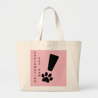 EXCLAMATION CAT PAW! Jumbo Canvas Tote
