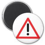 exclamation mark traffic icon fridge magnets