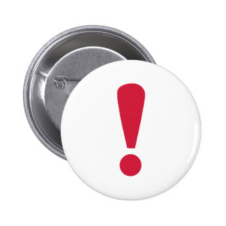 Exclamation point 6 cm round badge