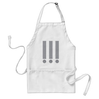 Exclamation Point Adult Apron