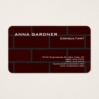 Exclusive Brown Red Brick Wall Creative Modern Business Card