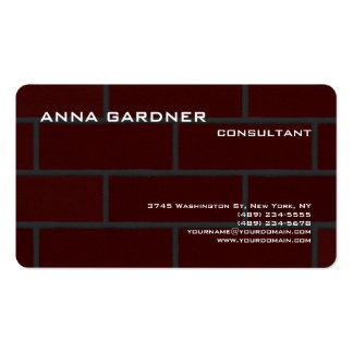 Exclusive Brown Red Brick Wall Creative Modern Pack Of Standard Business Cards