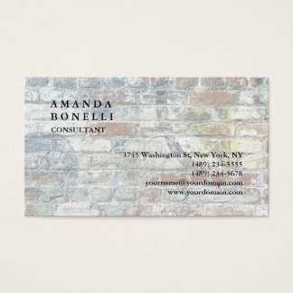 Exclusive Modern Wall Trendy Minimalist Chic Business Card