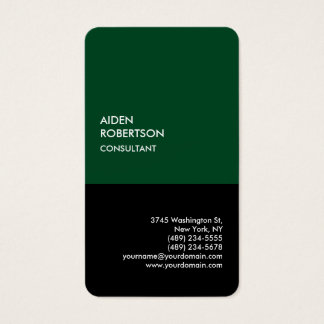 Exclusive Special Forest Green Black Modern Unique Business Card