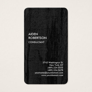 Exclusive Special Grey Black Wood Modern Unique Business Card