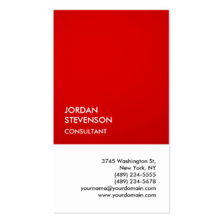 Exclusive Special Impressive Red White Unique Pack Of Standard Business Cards
