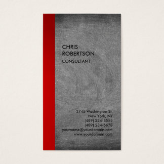 Exclusive Special Red Grey Chalkboard Modern Business Card