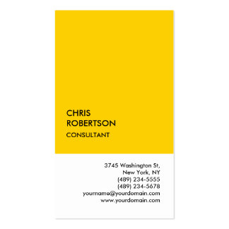 Exclusive Special Yellow White Unique Pack Of Standard Business Cards