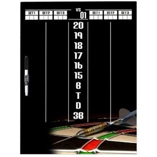 Exclusively Darts Erasable Marker Scoreboard Dry Erase Board
