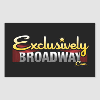 ExclusivelyBroadway.com Rectangular Sticker