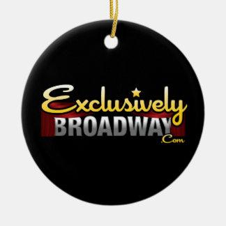 ExclusivelyBroadway.com Round Ceramic Decoration