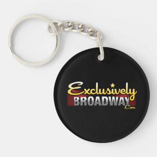 ExclusivelyBroadway.com Single-Sided Round Acrylic Key Ring