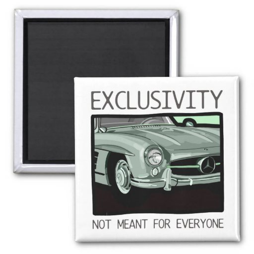 Exclusivity and wealth - old Gullwing classic car Fridge Magnets