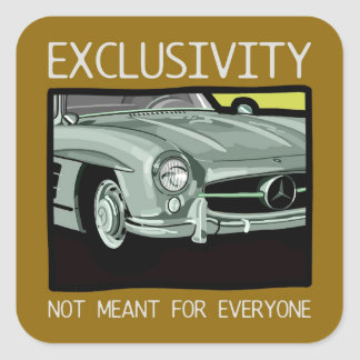Exclusivity and wealth - old Gullwing classic car Stickers