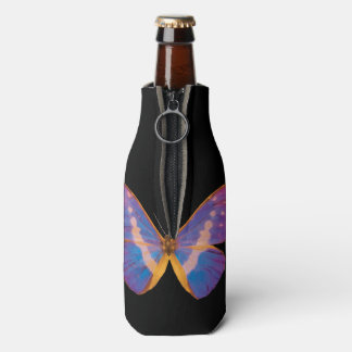 Excotic Butterfly Watercolor Bottle Cooler