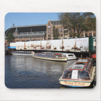 Excursion boats in Amsterdam Mouse Mat
