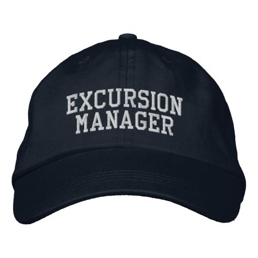 Excursion Manager Embroidered Baseball Cap