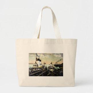 Excursion Steamers, Detroit, Michigan - Tashmoo Jumbo Tote Bag