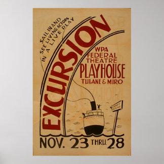 Excursion WPA Vintage Theatre Poster